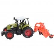 Tractor cu accesorii, portocaliu, 40 cm