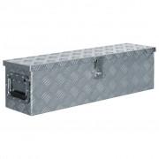 vidaXL Cutie din aluminiu, 80,5 x 22 x 22 cm, argintiu