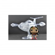 Funko Pop Invisible Jet Rides Wonder Woman Mujer Maravilla Nave-Transparente