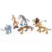 TOYMYTOY 6pcs Wild Jungle Animal Toy Figures Forest Animals Toy Models Preschool Kids Toy