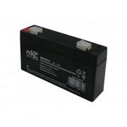 MKC Batteria Al Piombo 6v 1,2 Ah Tampone Accumulatore Ricaricabile Terminale Faston 4,8mm Per Lampade Di Emergenza Ed Elettronica In Generale