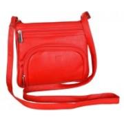 Leather Land Red Sling Bag