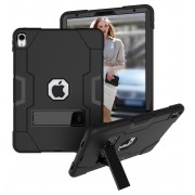 Shock Proof Hybrid TPU + PC Case with Kickstand for iPad Pro 11-inch (2018) - All Black