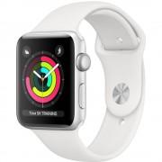 Apple Watch Series 3 GPS Smartwatch 38mm Silver Aluminium Case White Sport Band