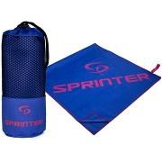 SPRINTER Mikroszálas törölköző - 100×160 cm, kék-rózsaszín