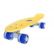 Sportmann Penny board Mad Cruiser cu roti LED ABEC 7-galben