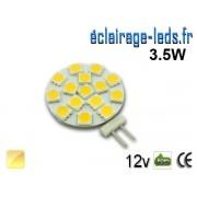 Ampoule led G4 15 led SMD 5050 blanc chaud 12v ref g4-02
