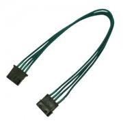 Cablu prelungitor Nanoxia 4-pini Molex, Single Sleeve, 30cm, Green
