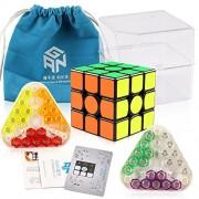 D-Fantix Gan 356 Air Sm Speed Cube 3X3 Gans Magnetic 3X3X3 Puzzle Toy Black