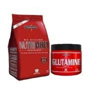 Kit Nutri Whey Baunilha + Glutamine 300g - IntegralMédica