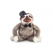 Kimler Plush Fancy Animals Stuffed Sloth: Cute & Funny Plushie Toy Animal with Mustache, Monocle Bowtie for Children Or Adults- Perfect Party Bedtime Friend Boys Girls - 14 Tall