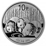 Čínská mincovna Panda Stříbrná mince 10 Yuan China 1 Oz 2013
