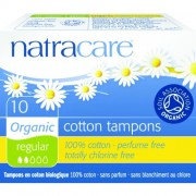 Tampoane interne organice normal (2 picaturi) Natracare 10 buc