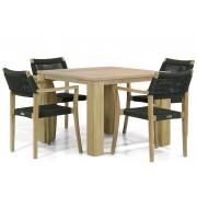 Lifestyle Garden Furniture Lifestyle Dallas/Brighton 100 cm dining tuinset 5-delig