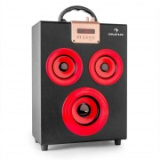 Auna Central Park 2.1 Altavoz con Bluetooth USB SD móvil (CS6-Central-Park-Red)