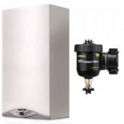 Pachet centrala termica in condensare Ariston CARES PREMIUM 24 EU 24 kW + Filtru anti-magnetita Fernox TF1