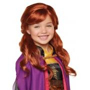 Luxo Peruca luxo Anna Frozen 2 menina
