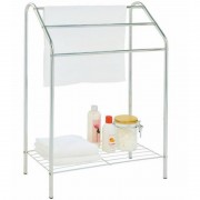Towel Stand with Base Shelf