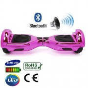 """6.5"""" Pink Chrome Bluetooth Segway Hoverboard"""