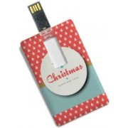 100yellow Christmas & Happy New Year Printed Credit Card Shape 16GB Pen Drive 16 GB Pen Drive(Multicolor)