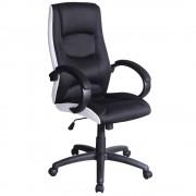 Scaun de birou ergonomic Q-041 negru/ alb