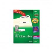 Permanent File Folder Labels, Trueblock, Inkjet/laser, White, 1800/box