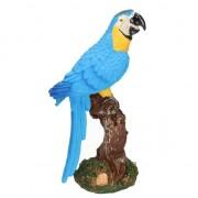 Merkloos Vogel decoratie beeldje blauwe papegaai 26 cm
