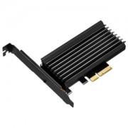 Adaptor Silverstone ECM24 de la port M.2 NVMe la PCI Express x4, cu radiator, low profile