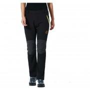 Pantalones Senderismo Mujer Softshell Escalada Pesca Invierno - Negro