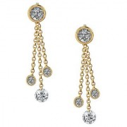 PeenZone 18k Gold Plated Fashion Sui Dhaaga Ear Tops (Stud Earrings) For Women Girls