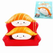 SanQi Elan Squishy Salmon Sushi 12cm Slow Rising With Packaging Collection Gift Decor Soft Toy