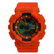 SHHORS Sport Outdoor Trend Design Dual time SYNCHRONOUS MONT watch for Boys and Girls (Small Size Round shape watch)