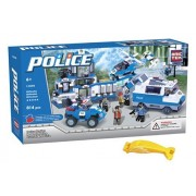 BRICTEK 11010 Police Station 814 pcs Building Blocks (Compatible with Legos) with Block Remover