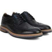 Clarks Pitney Limit Black Leather Lace Up For Men(Black)