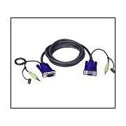 ATEN 2L-2402A :: KVM кабел, HD15 F + Audio plug >> HD15 M + Audio plug, 1.8 м