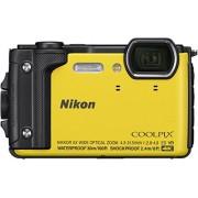 Nikon W300, Cámara sumergible con visualización LCD Color Amarillo