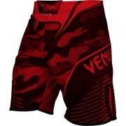 Venum Hero Camouflage Print Combat Boardshorts Beachwear Red/Black
