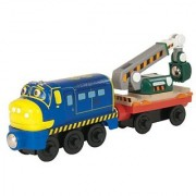 Chuggington Wooden Railway Chugginer Brewster With Digger Car