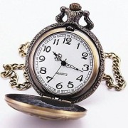 Vintage SUPERMAN Metal Bike Car Bag Keychain Pocket Watch Clock Pendant