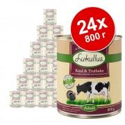 Икономична опаковка Lukullus Adult 24 x 800 г - говеждо и пуешко (без зърно)