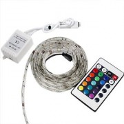 Lerway 6.5ft RGB Led Flexible Strip Light with 24key IR Controller (60 SMD5050 Waterproof 12V)