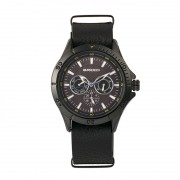 Breed Dixon Leather-Band Watch w/Day/Date - Black BRD7304