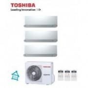 Toshiba CLIMATIZZATORE CONDIZIONATORE TRIAL INVERTER 10+10+10 TOSHIBA MIRAI DA 10000+10000+10000 BTU RAS-3M18U2AVG-E GAS R32