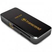 Четец за флаш карта Transcend USB3.0 SD/microSD Card Reader (Black) - TS-RDF5K