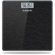 Healthgenie Electronic Digital Weighing Machine Bathroom Personal Weighing Scale Max Weight 180 Kgs Weighing Scale (Brushed Black)