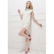 Trasparenze - Romantisk spetsstrumpbyxa med blommigt mönster Marbledbambola L