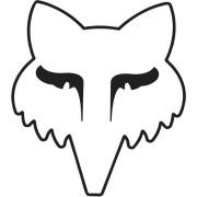 Fox Legacy Head 3,5 Zoll Etiqueta engomada Blanco un tamaño