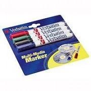 Verbatim Penna 4-pack Märkpenna lämpad för CD/DVD