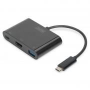 Digitus Adaptador USB 3.0 Type-C para HDMI/USB 3.0/USB C