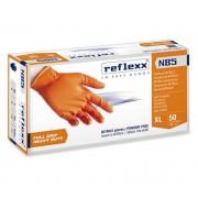 Reflexx Guanti In Nitrile Monouso Taglia M Arancioni Full Grip N85 Conf. 50 Pz